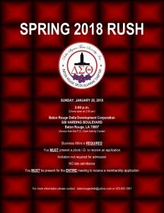 SPRING 2018 RUSH @ Baton Rouge Delta Alumnae House | Baton Rouge | Louisiana | United States